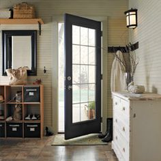 another organized entryway  I especially want this door for in between the mudroom entrance and the hallway