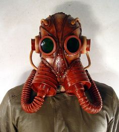 Steampunk Leather Mask | Artist: Bob Basset