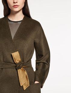 "Reversible pure cashmere jacket, green - ""EDEL"" Max Mara"