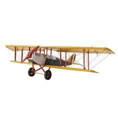 Yellow Curtis Jenny Plane 1:18 Model AJ014 by Old Modern Handicrafts