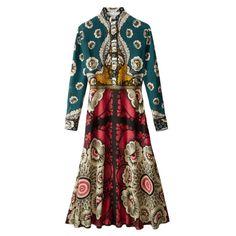 Valentino Foulard Print Crêpe de Chine Dress