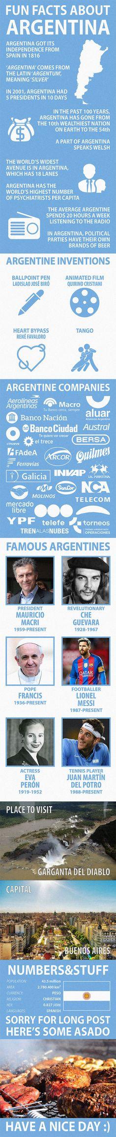 8 Best Argentina: Facts images in 2016 | Argentina, Spanish