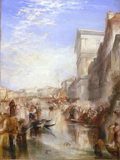 "JMW Turner ""The Grand Canal, A Street Scene in Venice""  1837 (Huntington…"