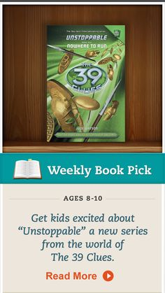 """Discover """"Unstoppable"""" from The 39 Clues series. Read the tip for more! #the39clues #booksforkids"""