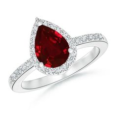 Make a statement with this Pear Shaped Ruby Engagement Ring with Diamond Halo from Angara.com. Explore a fascinating array of designs