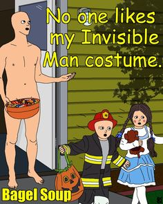 Bagel Soup - Invisible Man Costume