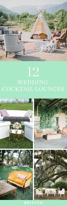 Bookmark this for ideas for cocktail lounges on your big day.