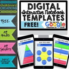 How to Make Digital Interactive Notebooks Digital Interactive Notebook Template Sample Cover Interactive Notebooks, Reading Notebooks, Math Notebooks, Blended Learning, Google Classroom, Graphic Organizers, Teaching Resources, Teaching Themes, Teaching Technology