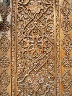 Carved door detail (Samarkand)