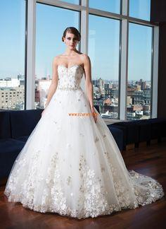 Brillant & Séduisant Fleurs Zip Robes de mariée de luxe