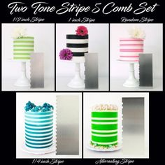 Make intricate cake and cookie designs easily with Evil Cake Genius Stencils and decorating tools Icing Frosting, Buttercream Cake, Double Barrel Cake, Striped Cake, Cake Decorating Tools, Cookie Designs, Cute Cakes, Celebration Cakes, Tiered Cakes
