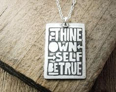 to thine own self be true ring | To thine own self be true necklace - inspirational quote Shakespeare  canvas?