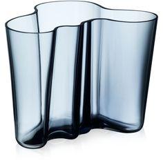 Iittala Vase, Colored Aalto Medium ($125) ❤ liked on Polyvore featuring home, home decor, vases, rain, colored vases, hand-blown glass vases, iittala vase and iittala