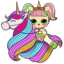 Resultado De Imagen Para Lol Doll Unicorn Munecas Lol Dibujos Kawaii Munecas Lol Surprise