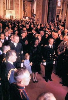 11/25/63: Leaving St. Matthew's Cathedral after the funeral mass.