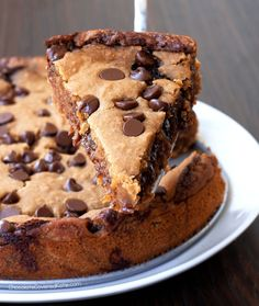 You searched for Deep dish cookie pie recipes - Chocolate Covered Katie Homemade Chocolate Pie, Gooey Chocolate Chip Cookies, Vegan Peanut Butter Cookies, Vegan Chocolate Chip Cookies, Healthy Chocolate, Chocolate Recipes, Chocolate Chips, Chocolate Orange, Chocolate Fudge