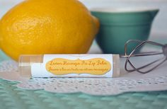 A spring lip balm flavor you wont be able to resist - this Lemon Meringue Pie flavoured chapstick is just what you need to brighten your spirits and