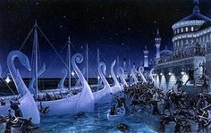 The world of Middle-Earth crafted by J. Tolkien in his famous books The Hobbit, The Lord of the Rings, and The Silmarillion Tolkien Books, Jrr Tolkien, Legolas, Gandalf, Thranduil, Ted, Elven City, Das Silmarillion, Midle Earth