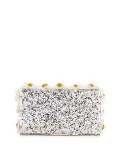 Charlotte Olympia Floral Pandora Box Clutch In Silver/gold Floral Clutches, Pandoras Box, Barbie World, Charlotte Olympia, Flower Decorations, Clutch Handbags, Silver, Gold, Hand Bags