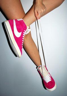 Pink Nikes!    http://www.kicksonfire.com/category/nike/nike-blazer/