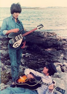 George Harrison and John Lennon because the world is round. http://www.guitarandmusicinstitute.com • @HVLAUREN