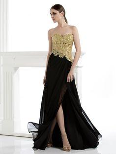 ts-Couture-Abendkleid - Mantel / Spalte strapless bodenlangen Spitze - EUR €146.99