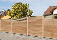 Eleganter Sichtschutz aus Lärchenholz