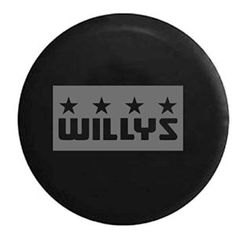 Stealth Willys Military Stars Spare Tire Cover