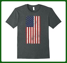 Mens American flag Fourth Of July Vintage T-shirt Large Dark Heather - Holiday and seasonal shirts (*Amazon Partner-Link)