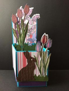 Easter Tulips by Stamperamma - Cards and Paper Crafts at Splitcoaststampers