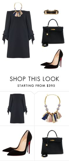 """""""Untitled #371"""" by nadiralorencia on Polyvore featuring TIBI, Lizzie Fortunato, Christian Louboutin, Hermès and Isabel Marant"""