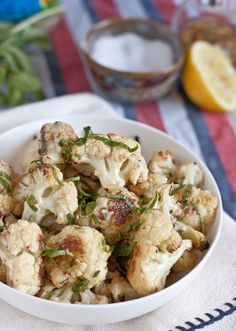 Roasted Cauliflower with Lemon & Tahini | Blogging Over Thyme