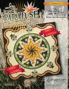 Paradise In Blooms Technique of the Month Queen Size Borders