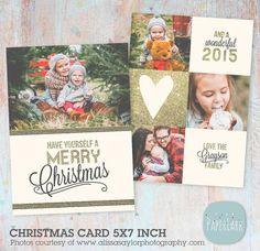 Christmas Card Template Bundle AC055