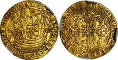 Low Countries/Flanders AV Demi Noble d'or 1488 Malines Mint Philippe Le Beau/Maximilian of Austria 1482-94