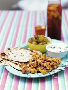These tandoori chicken kebabs from Jamie Oliver are delightfully easy to put together, after marinating simply barbecue for 15 minutes; delicious!
