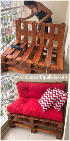Pin by Stephanie Vogel on Diy M bel in 2020 Diy pallet furniture Wood pallet diy furniture m bel pallet pin stephanie vogel wood # Diy Furniture Couch, Wood Pallet Furniture, Wood Pallets, 1001 Pallets, Pallet Chair, Furniture Projects, Diy Pallet Couch, Pallet Benches, Pallet House