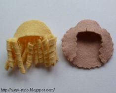 How to make curly hair for felt dolls