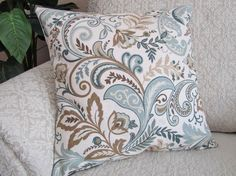 Decorative Throw Pillow Cover Slate Blue by asmushomeinteriors