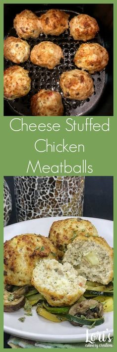 Air Fryers are the RAGE right now. Make these delcious Cheese Stuffed Chicken Meatballs with perfectly aged Mahon cheese #mahón-menorcacheese, #cheesefromspain, #eurocheeses