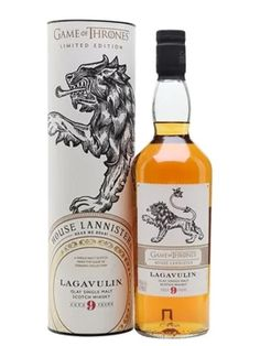 Lagavulin 9 Year Old / Game of Thrones House Lannister Islay Whisky Whisky Islay, Burnt Marshmallow, Bartender Recipes, Caramelized Bananas, Game Of Thrones Houses, Alcohol Humor, Drinking Quotes, Single Malt Whisky, Scotch Whiskey