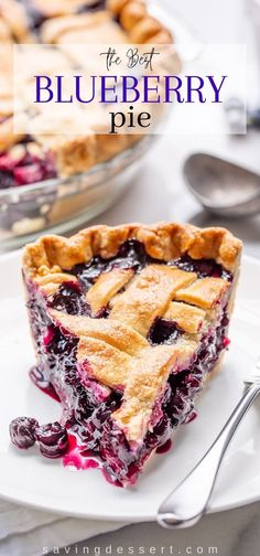 Frozen Blueberry Pie, Homemade Blueberry Pie, Blueberry Pie Recipes, Tart Recipes, Sweet Recipes, Baking Recipes, Easy Blueberry Desserts, Healthy Pie Recipes, Baking Pies