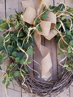 Handmade item Materials: grapevine wreath, glue, wire, wired burlap, realistic fern, realistic greenery Made to order Ships from United States Questions? Contact shop owner Item details BEST SELLER This beautiful burlap front door greenery wreath is the perfect simple accent for