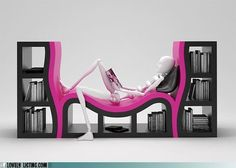 Lounge chair bookcase