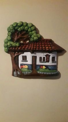 Fachadas Clay Houses, Mini Plants, Glitter Houses, Clay Crafts, Online Art, Framed Art, Polymer Clay, Projects To Try, Christmas Ornaments
