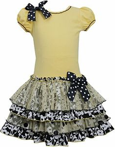 Yellow Black White Knit to Mix Print Tier Drop Waist Dress YL3SA, Yellow, Bonnie Jean Little Girls 4-6X Special Occasion, Flower Girl Social Party Dress Bonnie Jean http://www.amazon.com/dp/B00KY48NMY/ref=cm_sw_r_pi_dp_2AZMtb1XPCQQSQWQ
