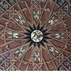 Detalle de artesonado de los Reales Alcazares de Sevilla