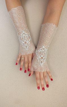 ivory Wedding Glove Bridal Glove white by WEDDINGHome on Etsy, $29.00