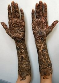 Bridal Mehandi is considered as a charm for marriage ceremonies.