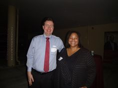 #Lawyer Evan Guthrie with Dean Danielle Holley-Walker of University of South Carolina School of Law at the University of South Carolina School Of Law Lowcountry Alumni Oyster Roast held on Thursday, February 20, 2014 at the.Victoria Center in Charleston, SC